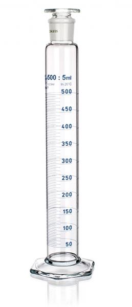 Цилиндр высокий, класс 1, 25 мл, со стеклянной пробкой