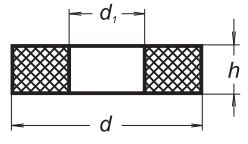 Уплотнительный силиконовый диск с отверстием, 32-20, диаметр 30 мм