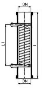 Холодильник с 2 штуцерами DN 25 KZA 100