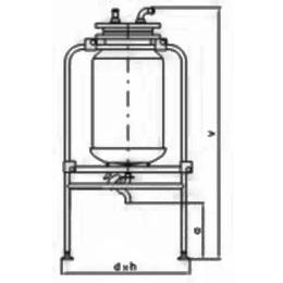 Бункер (резервуар) с конструкцией 100 л