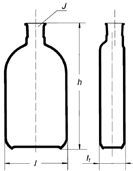 Бутыль Роукса, культуральная, 450 мл, формованная горловина сбоку
