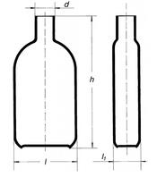 Бутыль Роукса, культуральная, 75 мл, горловина по центру