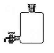 Склянка-аспиратор с краном и пр. пробкой 10000 мл (бутыль Вульфа)