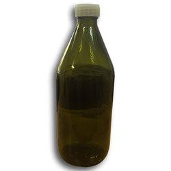 Бутылка из темного стекла, с пластмассовой крышкой, 1000 мл