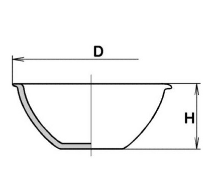 Чашка выпарная, 145*55, плоскодонная