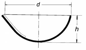 Чашка выпарная, 61х28, глубокая
