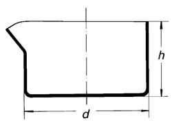 Чаша кристаллизационная, диаметр 100 мм