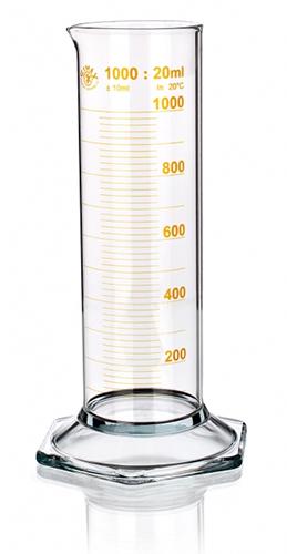 Цилиндр низкий, класс 2, 100 мл, с носиком, коричневая шкала