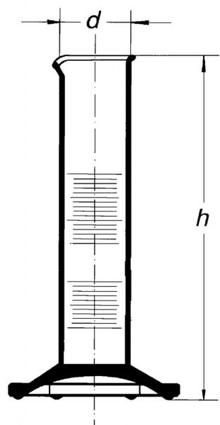 Цилиндр низкий, класс 2, 5 мл, с носиком, коричневая шкала