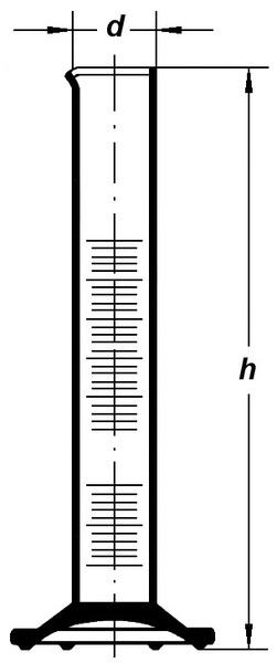 Цилиндр высокий, класс 2, 10 мл, коричневая градуировка