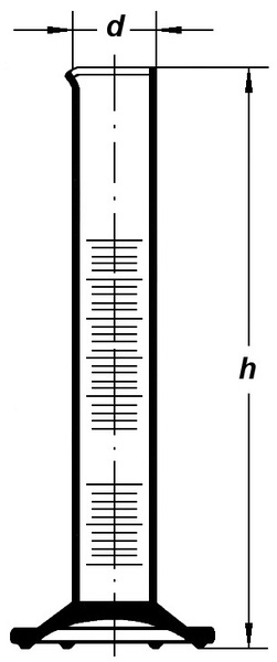 Цилиндр высокий, класс 2, 250 мл, коричневая шкала