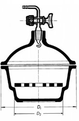 Эксикатор на 100 мм, в комплекте