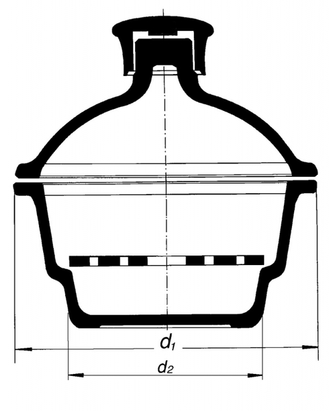 Эксикатор на 100 мм, без крана