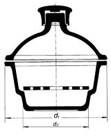 Эксикатор на 250 мм, без крана
