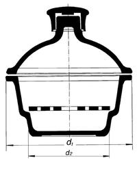 Эксикатор на 300 мм, без крана