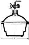 Эксикатор с краном, 150 мм, без диска