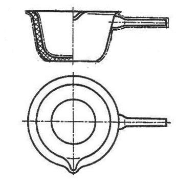 Фарфоровая кастрюля 100/55 мм/226 мл, №2