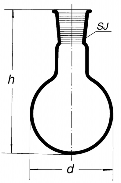 Колба круглодонная, 6000 мл. 60/46