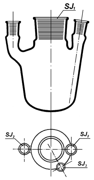 Колба 4-х горлая 500 мл