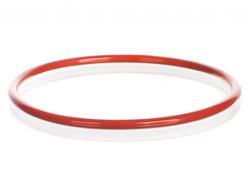 Красное силиконовое уплотнительное кольцо с покрытием ФЭП, DN150