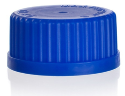Синяя крышка к банкам Simax, резьба GL 32