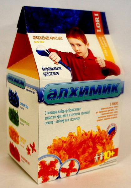 Набор для выращивания кристаллов LORI Алхимик «Оранжевый кристалл»