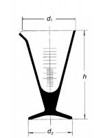 Мензурка коническая, 1000 мл, без ручки