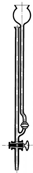 Микробюретка Банга 5 мл, прямой кран