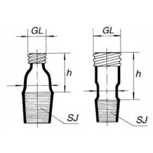 Переход со шлифа на винт, длиной 40 мм, 29/32