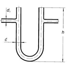 Трубка соединительная U-образная d 1-8 мм, d-14, L-120 мм