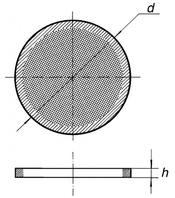 Фильтрующая пластина, S1/60, из толченого, спеченного стекла