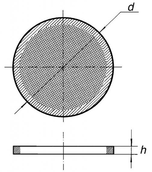 Фильтрующая пластина, S1/40, из толченого, спеченного стекла