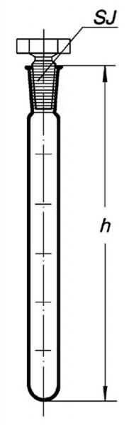 Пробирка мерная со стеклянной пробкой, 25 мл