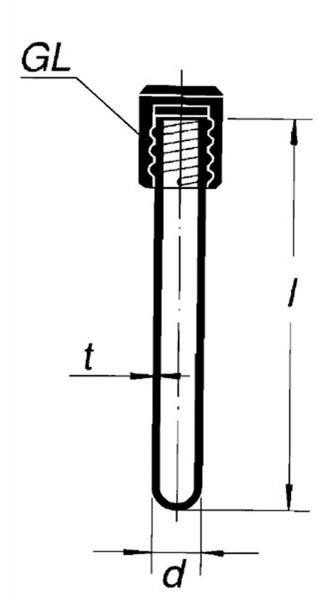 Пробирка круглодонная, 16*180, с крышкой GL-18