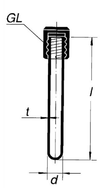 Пробирка круглодонная, 16*160 , с крышкой GL- 18