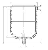Корпус реактора, фторопласт