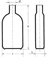Бутыль Роукса, культуральная, 1000 мл, горловина по центру