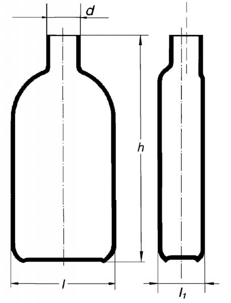 Бутыль Роукса, культуральная, 1000 мл, горловина с боку