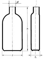 Бутыль Роукса, культуральная, 450 мл, горловина сбоку