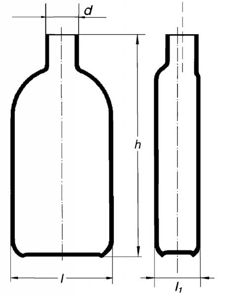Бутыль Роукса, культуральная, 2000 мл, горловина сбоку