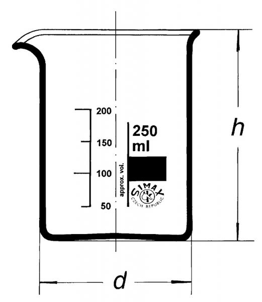 Стакан низкий, Н-1-800