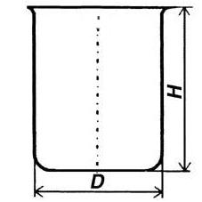 Стакан кварцевый низкий НБН-1000 мл