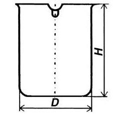 Стакан кварцевый низкий НН-1600 мл