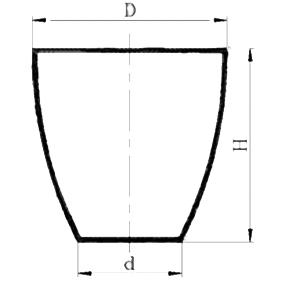 Тигель кварцевый высокий В-50 мл