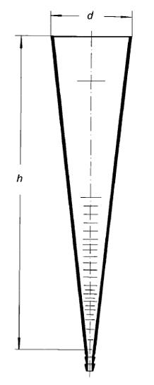 Воронка Имхоффа (конус седиментационный), 1000 мл, сквозная