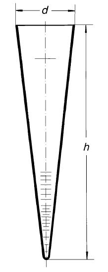 Воронка Имхоффа (конус седиментационный), 1000 мл, закрытый тип