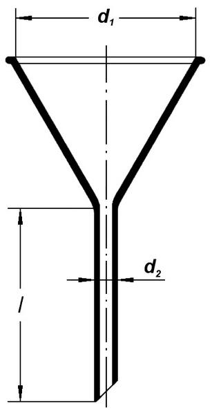 Воронка лабораторная, 45 мм
