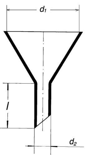Воронка лабораторная, 100 мм, широкий стебель
