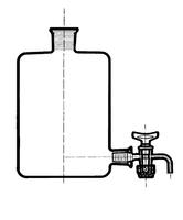 Склянка-аспиратор с краном и пр.пробкой 2500 мл (бутыль Вульфа)