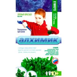 Набор для выращивания кристаллов LORI Алхимик «Зеленый кристалл»